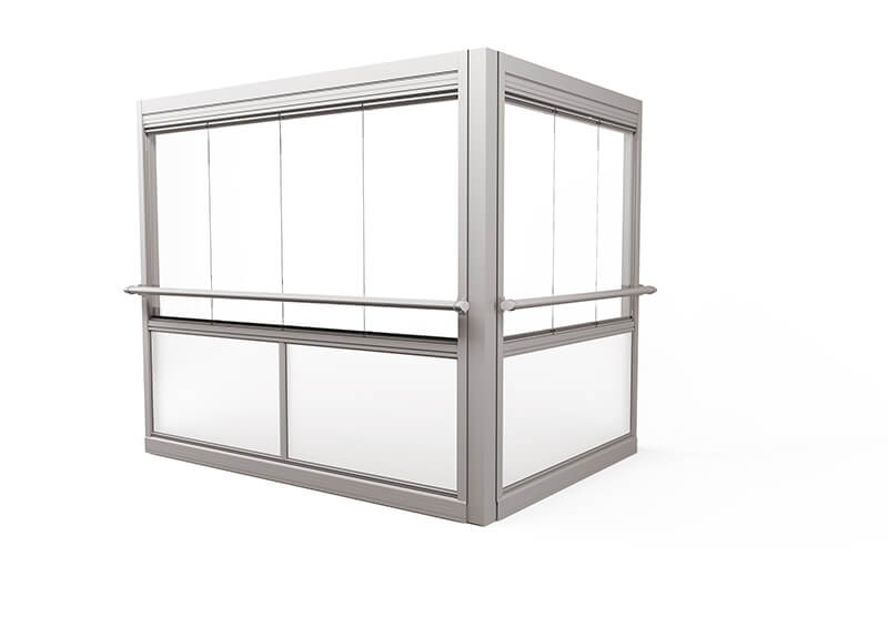 Design Air Glasinddækningssystem – uden ramme, med håndliste