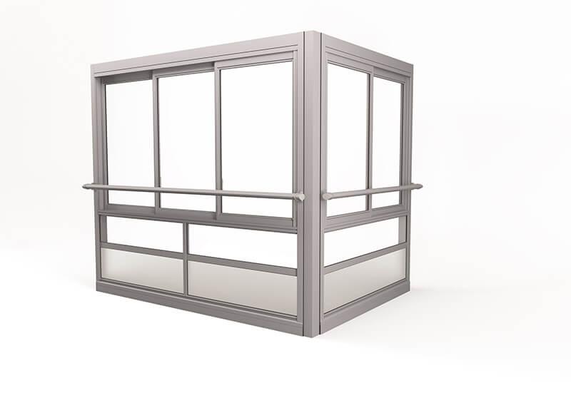 Twin® Air Glasinddækningssystem – med ramme og håndlister