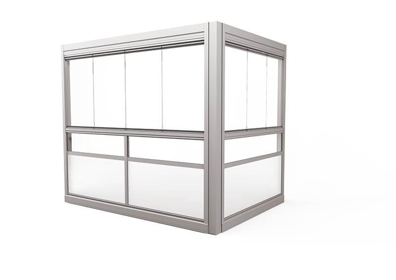 Design Sight Glasinddækningssystem – uden ramme, uden håndliste