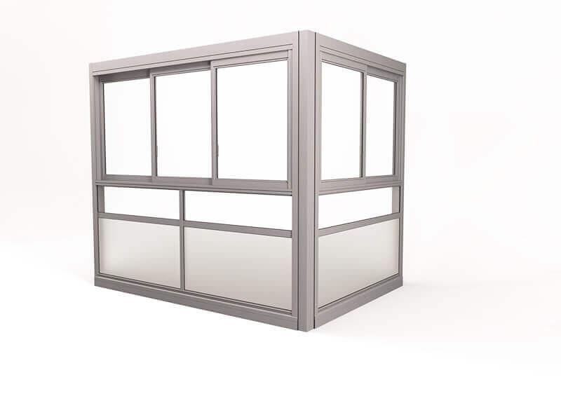Twin® Sight Glasinddækningssystem - med ramme, uden håndlister