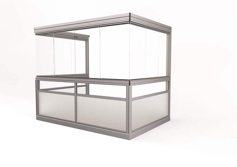 Vision® Sight Glasinddækningssystem – uden ramme, uden hjørnestolper og håndlister