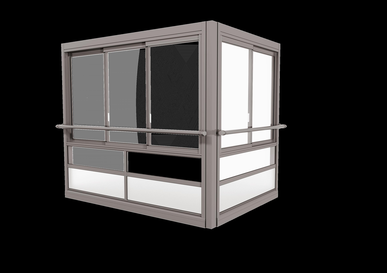 TwinView™ Air Glasinddækningssystem – med ramme og håndlister